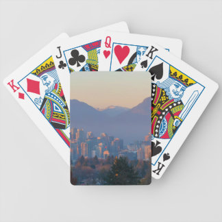 Vancouver BC Downtown Cityscape at Sunset Panorama Bicycle Playing Cards