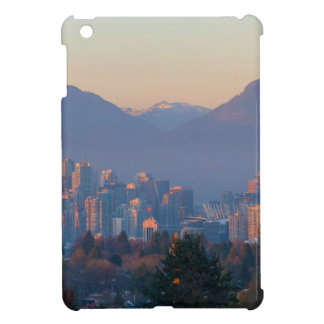 Vancouver BC Downtown Cityscape at Sunset Panorama Case For The iPad Mini