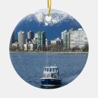 Vancouver BC Round Ceramic Ornament