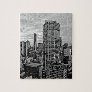 Vancouver Black And White Skyline Jigsaw Puzzle