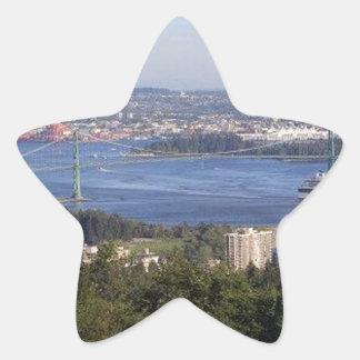 Vancouver British Columbia Canada Star Stickers
