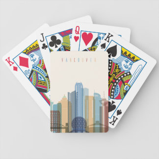 Vancouver, Canada | City Skyline Bicycle Playing Cards