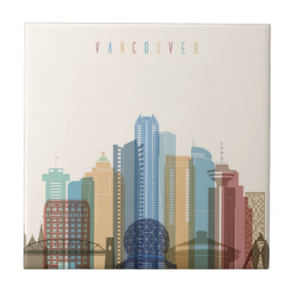 Vancouver, Canada | City Skyline Tiles