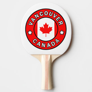 Vancouver Canada Ping Pong Paddle