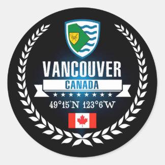 Vancouver Classic Round Sticker