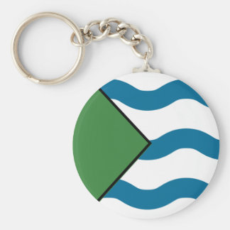 VANCOUVER Flag Basic Round Button Keychain