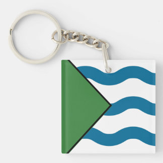 VANCOUVER Flag Double-Sided Square Acrylic Keychain