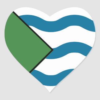 VANCOUVER Flag Heart Sticker