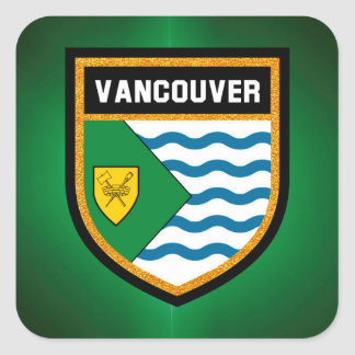 Vancouver Flag Square Sticker