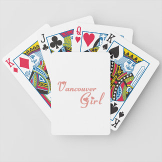 Vancouver Girl Bicycle Playing Cards