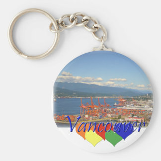 Vancouver Hearts Basic Round Button Keychain