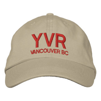 Vancouver International Airport (YVR) Hat Embroidered Hat