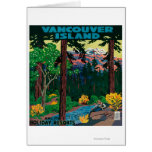 Vancouver Island Advertising Poster Greeting Card