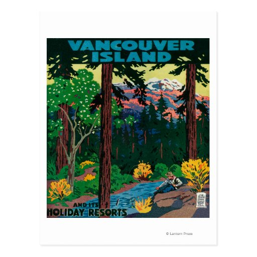 Vancouver Island Advertising Poster Post Cards