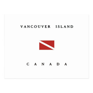 Vancouver Island Canada Scuba Dive Flag Postcard