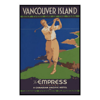 Vancouver Island Golf every day of the year Poster
