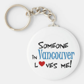 Vancouver Love Basic Round Button Keychain