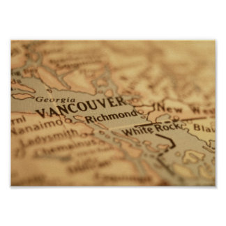 Vancouver Map Poster