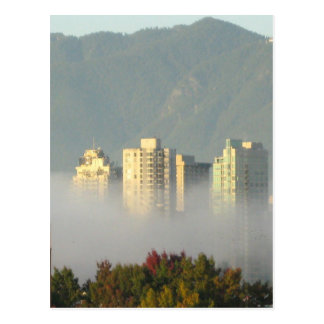 Vancouver out of Mist Postcard