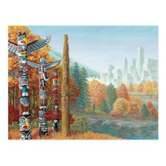 Vancouver Postcards Totem Pole Landscape Postcards
