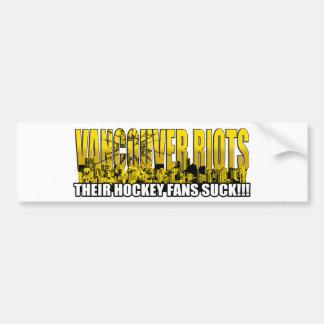 Vancouver Riots 2011 - Their Hockey Fans Suck!!! Bumper Sticker