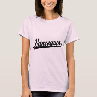 Vancouver script logo in black T-Shirt