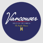 Vancouver Script Sticker