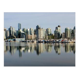 Vancouver Skyline and Reflection Postcard