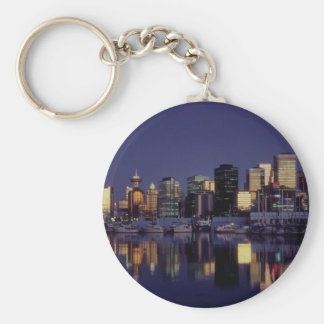 Vancouver skyline, British Columbia, Canada Basic Round Button Keychain