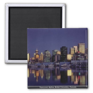 Vancouver skyline, British Columbia, Canada Magnet