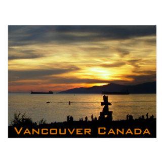 Vancouver Souvenir Postcards Inukshuk Landmark