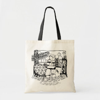 Vancouver Souvenir Tote Bag Landmark Art Bags