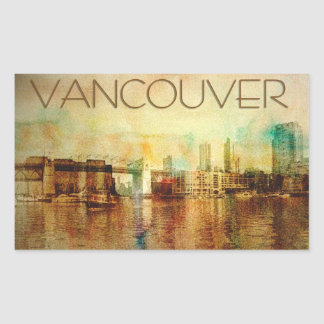 Vancouver Water Color Sticker