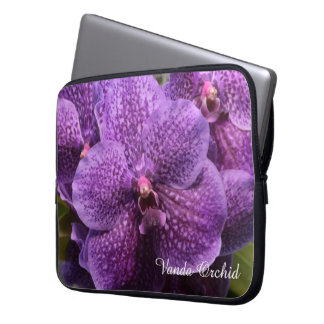 Vanda Orchid Purple Flowers Laptop Sleeve