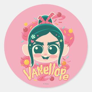 Vanellope Von Schweetz Face Classic Round Sticker