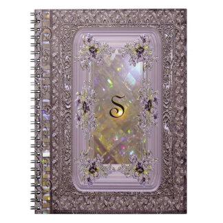 Vanfleet Lilac Victorian Monogram Notebook