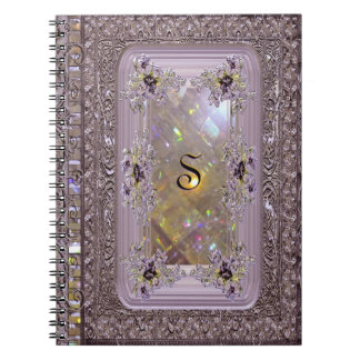Vanfleet Lilac Victorian Monogram Notebooks
