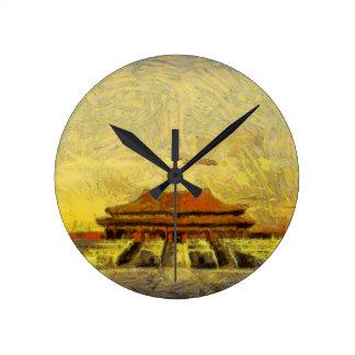 vangogh Forbidden-City Round Clock