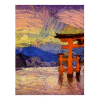 vangogh japangates postcard