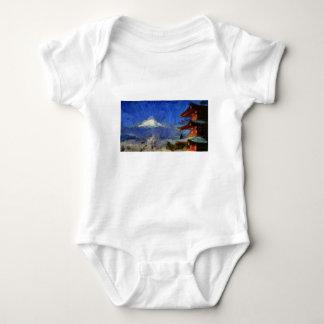 vangogh Mt-Fuji-Japan Baby Bodysuit