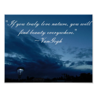 VanGogh Quote Poster