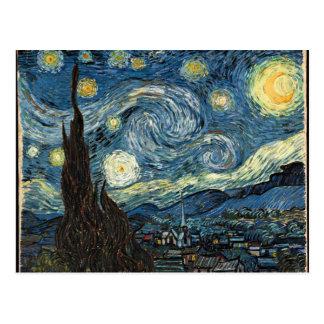 vangogh-starry night edit postcard