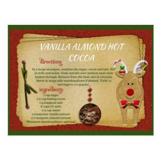 Vanilla Almond Hot Cocoa Christmas RECIPE CARD