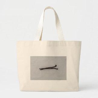 Vanilla bean with sugar large tote bag