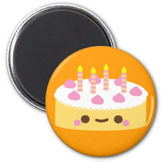 Vanilla  Birthday Cake Magnet