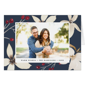 Vanilla Blossom | Holiday Photo Folded Card