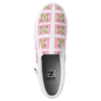 Vanilla butterfly Slip-On sneakers