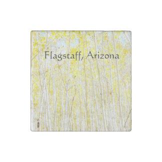 Vanilla Cake Aspen trees Flagstaff, Arizona Stone Magnets