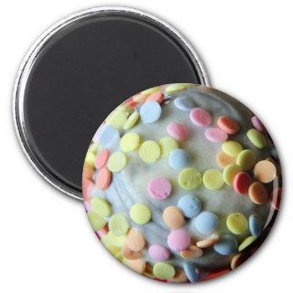Vanilla Cake Pop with Pastel Sprinkles Magnet