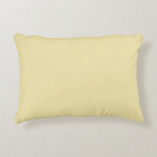Vanilla Color Milk Yellow Buttermilk Background Decorative Pillow